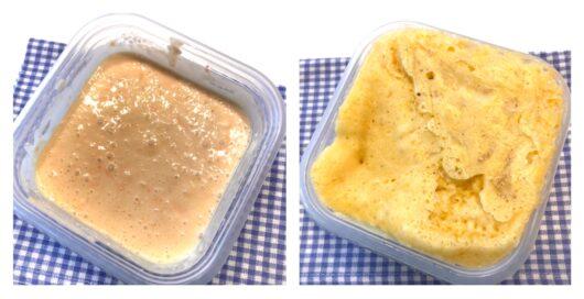 蒸しパンの調理過程