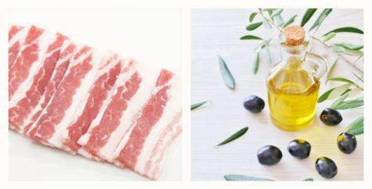 豚バラとオリーブオイル