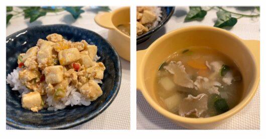 LUCEの麻婆豆腐と豚汁
