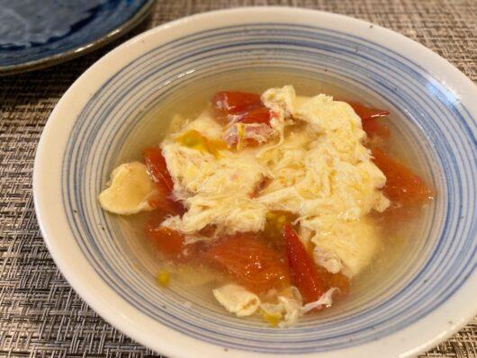 卵のコンソメスープ