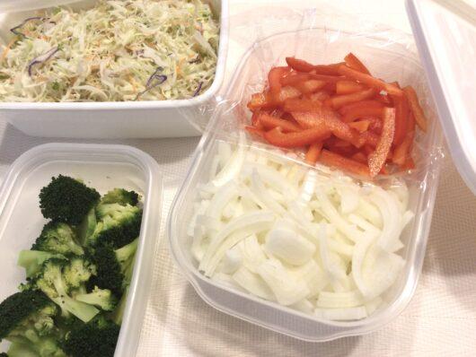 カット野菜の作り置き