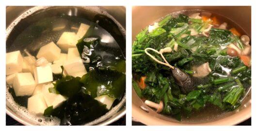 鉄魚を使う調理過程