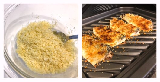 オーブンで焼き上げたイワシフライ